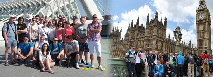 Praktyki zagraniczne - Hiszpania i Anglia